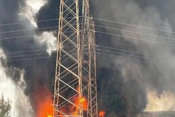 Μεγάλη πυρκαγιά σε εργοστάσιο ανακύκλωσης στο Σχηματάρι (Video)