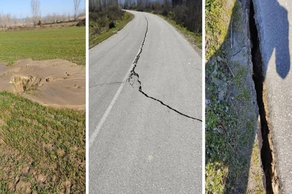 Εικόνες αποκάλυψης στην Ελασσόνα: Άνοιξε η γη από τον σεισμό των 6,3 Ρίχτερ