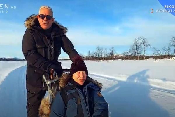 Εικόνες: Ταξίδι όνειρο με τον Τάσο Δούση στη Σουηδική Λαπωνία