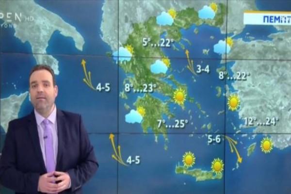 Κλέαρχος Μαρουσάκης: «Ανοιξιάτικος ο καιρός σήμερα»