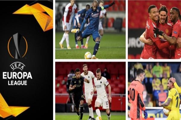 Europa League: Στα ημιτελικά Μαν. Γιουνάιτεντ - Ρόμα και Αρσεναλ - Βιγιαρεάλ (Video)