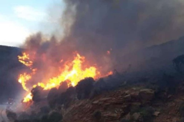 Φωτιά στην Άνδρο - Έκκληση δημάρχου για προληπτική εκκένωση