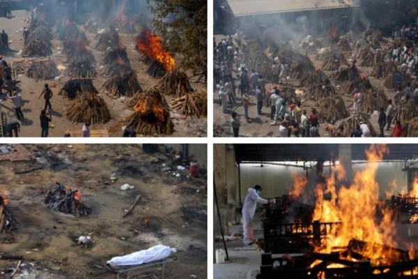 Ινδία: Στο έλεος του κορωνοϊού η χώρα! Εκατόμβες νεκρών από την πανδημία - Πτώματα αποτεφρώνονται μαζικά! (Video)