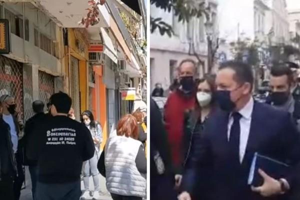Πάτρα: Έντονες διαμαρτυρίες κατά του Στέλιου Πέτσα - Οι έμποροι θα ανεβάσουν ρολά με... κηδειόχαρτα!