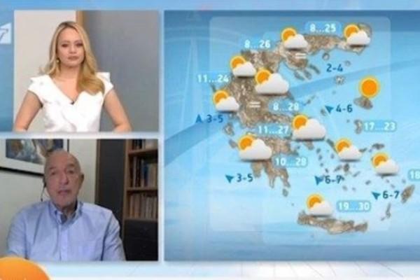 Τάσος Αρνιακός: «Συνεχίζεται η ανοιξιάτικη έξαρση του καιρού»