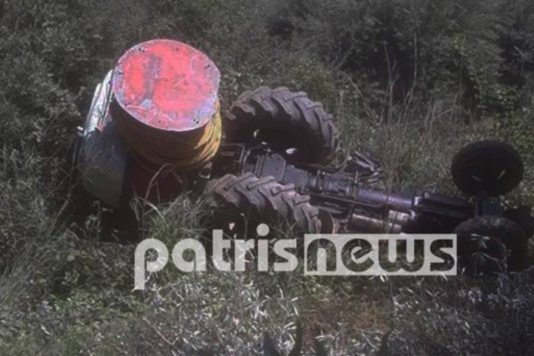 Ζαχάρω: Νεκρός 67χρονος που καταπλακώθηκε από το τρακτέρ του