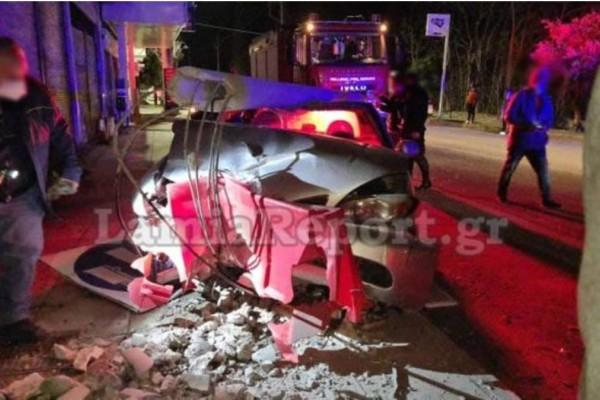 Τραγωδία στη Λαμία: Ανακοπή καρδιάς έπαθε η 36χρονη που έπεσε με το αυτοκίνητο σε κολόνα (Video)