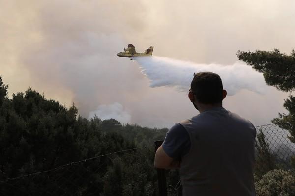 Φωτιά στον Σχίνο Κορινθίας: Βελτιώνεται η εικόνα της φωτιάς - Ελέγχονται οι αναζωπυρώσεις