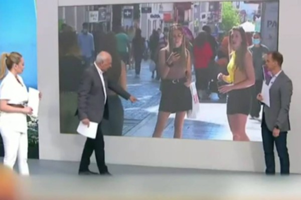 Η μίνι φούστα που «τρέλανε» τον Παπαδάκη - Απίστευτο ξέσπασμα live στο Πρωινό (ΒΙΝΤΕΟ)