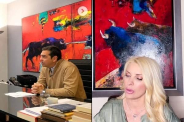 Τσίπρας και Μενεγάκη έχουν τους ταύρους του Γεωργίου στα γραφεία τους