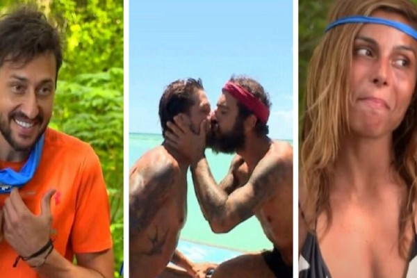 Survivor 4: Οι αντιδράσεις Καλλίδη & Ελευθερίου για το φιλί στο στομα Μπόγδανου-Τριαντάφυλλου (Video)
