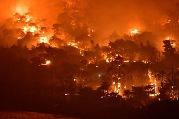 Φωτιά στον Σχίνο Κορινθίας: Σε εξέλιξη η καταστροφή - Προσπάθεια να οριοθετηθεί