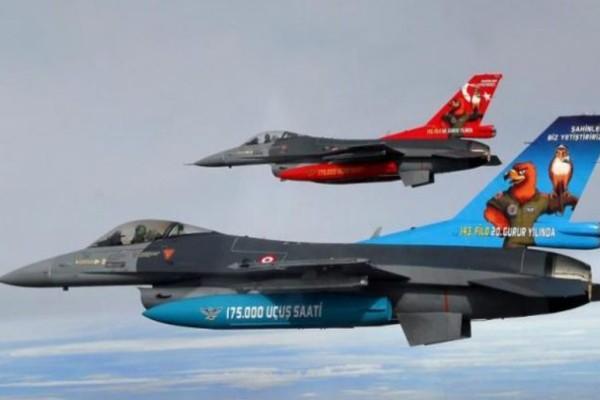 Υπερπτήσεις τουρκικών F-16 πάνω από Οινούσσες και Παναγιά