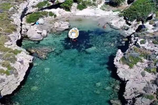 Η πιο πριβέ παραλία της Ελλάδας - Δείτε σε ποιο σημείο της χώρας βρίσκεται (Video)