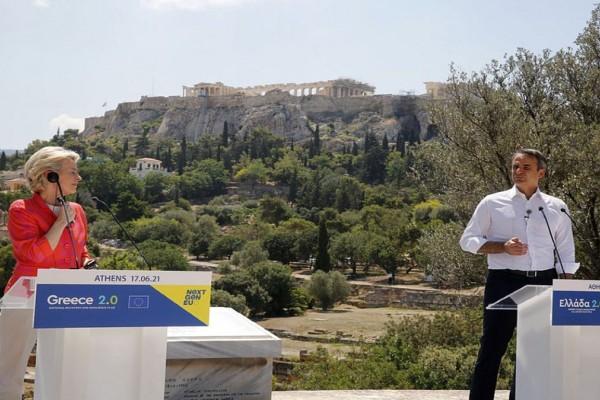 Ελλάδα 2.0: Πράσινο φως από Κομισιόν - Πάνω από 100 δισ. ευρώ και 220.000 θέσεις εργασίας υπόσχεται ο Μητσοτάκης