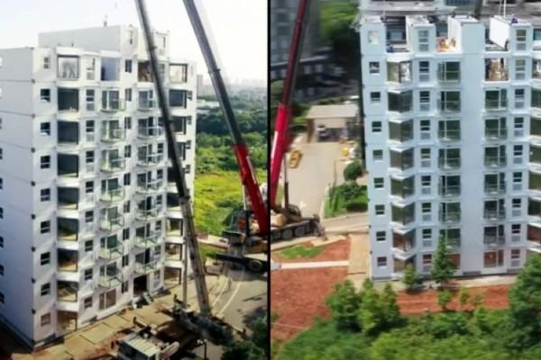 Πόσος χρόνος απαιτείται για να χτιστεί μια πολυκατοικία 10 ορόφων; Πολλοί μήνες, εκτός κι αν είστε Κινέζοι! (Βίντεο)