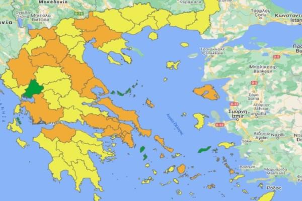 Χωρίζεται στα 4 η Ελλάδα! Νέος επιδημιολογικός χάρτης για τον κορωνοϊό - Ποιες περιοχές βρίσκονται σε πράσινο, πορτοκαλί και κίτρινο & τα μέτρα ανά επίπεδο