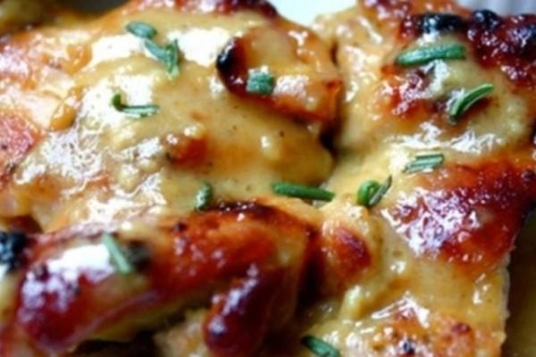 Κοτόπουλο μουσταρδάτο έτοιμο στο τσακ μπαμ
