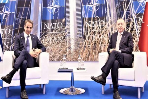 Σύνοδος ΝΑΤΟ: Ολοκληρώθηκε η συνάντηση Μητσοτάκη-Ερντογάν - Τι συζήτησαν για σχεδόν 1 ώρα