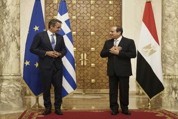 Μητσοτάκης - Αλ Σίσι: Eνίσχυση της διμερούς συνεργασίας και τους δεσμούς φιλίας των δύο χωρών - Κοινή πορεία σε Κυπριακό και Λιβύη