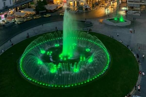 Στα πράσινα το συντριβάνι της Ομόνοιας για το Γουέμπλεϊ - Η πρωτοποριακή ψηφιακή έκθεση του Παναθηναϊκού για τα 50 χρόνια
