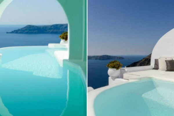Στον παράδεισο στην Σαντορίνη με μοναδικό ηλιοβασίλεμα: Ένα ξεχωριστό δωμάτιο με πισίνα και θέα που σε μαγεύει!