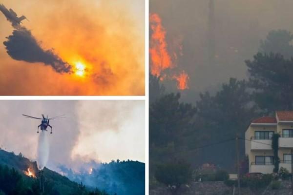 Πυρκαγιά στη Σάμο: Ολονύχτια μάχη με τις φλόγες – Προληπτική εκκένωση ξενοδοχείων, στο νησί ο αρχηγός της πυροσβεστικής