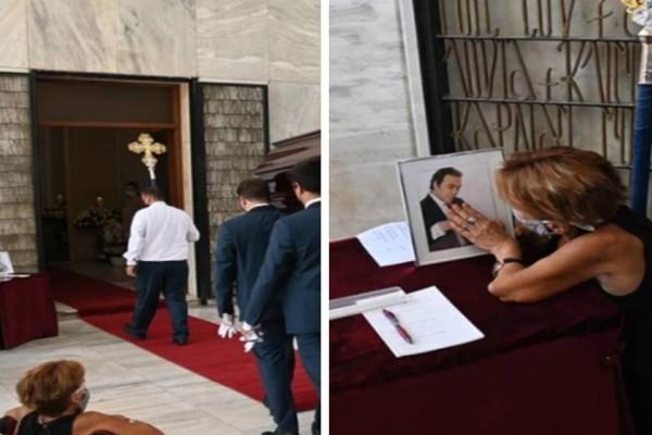 Συγκλονίζει ανάπηρη γυναίκα στη κηδεία του Βοσκόπουλου: Σηκώθηκε από το καροτσάκι για να τον προσκυνήσει!