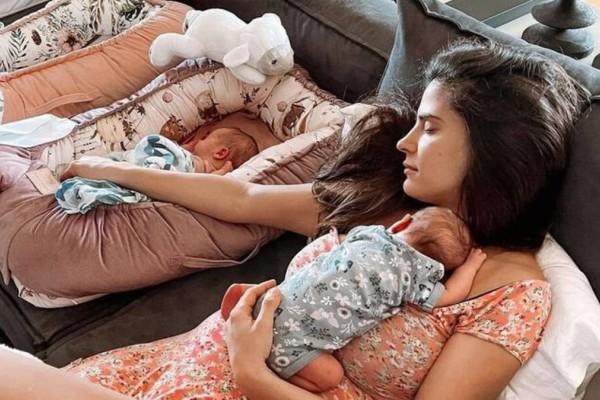 Χριστίνα Μπόμπα: Η αδημοσίευτη φωτογραφία από το μαιευτήριο λίγο πριν γεννήσει
