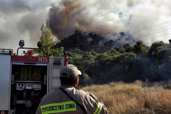 «Παραμείνετε σε ετοιμότητα»: Έκτακτο μήνυμα του 112 για την ισχυρή πυρκαγιά στην Σταμάτα!