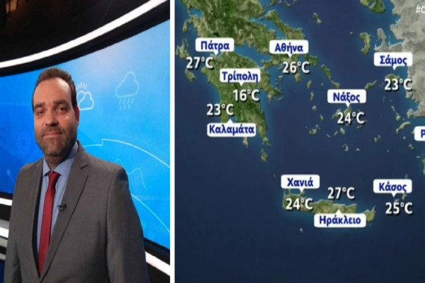 Καιρός: Ζέστη και λιακάδα σήμερα Παρασκευή 9 Ιουλίου - Προειδοποίηση για βροχές από τον Κλέαρχο Μαρουσάκη (Video)