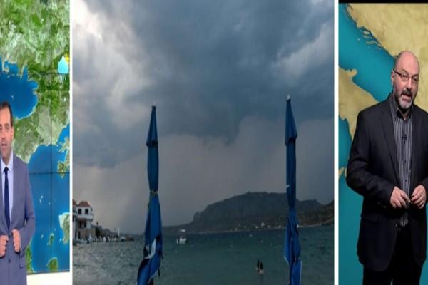 Καιρός σήμερα 3/7:  Μετά τον καύσωνα, βροχές και καταιγίδες - Πού θα είναι έντονα τα φαινόμενα σύμφωνα με τους Μαρουσάκη-Αρναούτογλου (Video)