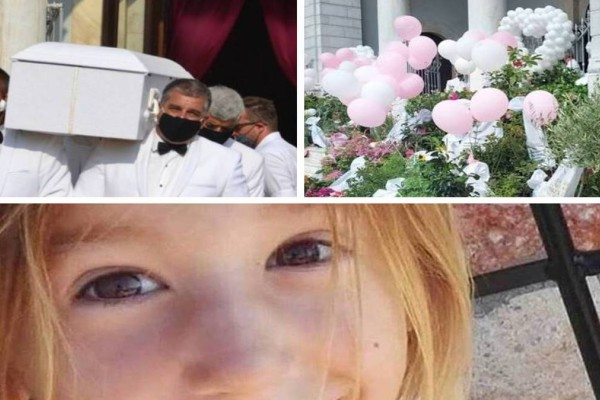 Καλαμάτα: Σπαραγμός και συγκίνηση στη κηδεία της μικρής Αναστασίας - Το λευκό φέρετρο και τα ροζ μπαλόνια