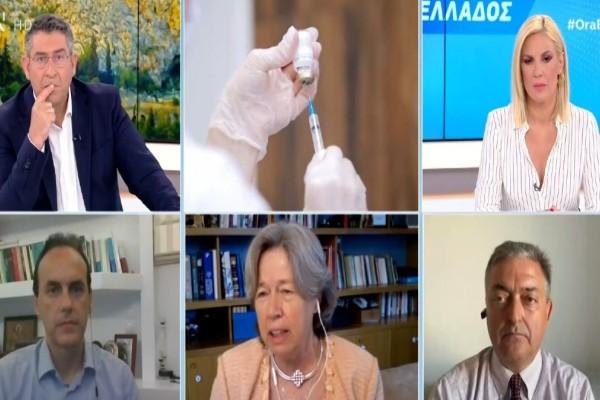 «Εμφύλιος» λοιμωξιολόγων: Άγρια κόντρα Λινού-Βασιλακόπουλου για εμβόλια και μετάλλαξη Δέλτα (Video)