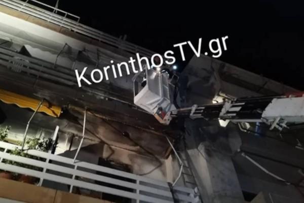 Θρίλερ στο Λουτράκι: Φωτιά σε διαμέρισμα επεκτάθηκε άμεσα σε 2 ορόφους - Επτά άτομα στο νοσοκομείο