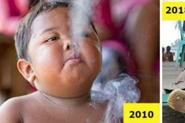 Θυμάστε το παχύσαρκο νήπιο που ήταν εθισμένο στο κάπνισμα; Δείτε πως είναι σήμερα και θα πάθετε πλάκα!