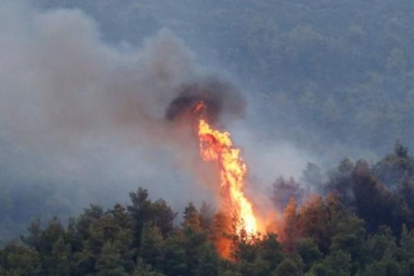 Μεγάλη φωτιά στη Σάμο - Υψηλός ο κίνδυνος πυρκαγιών στην χώρα
