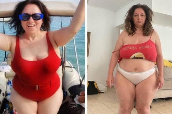 Αυθεντικό θηλυκό η Σοφία Μουτίδου: Ακομπλεξάριστη με κόκκινο μαγιό πάνω σε σκάφος! Γλέντι στο Instagram