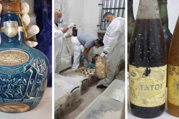 Κτήμα Τατοΐου: Εντοπίστηκαν 4.000 σπάνιες φιάλες κρασιών και ποτών - Ανάμεσά τους Chivas για την ενθρόνιση της Ελισάβετ