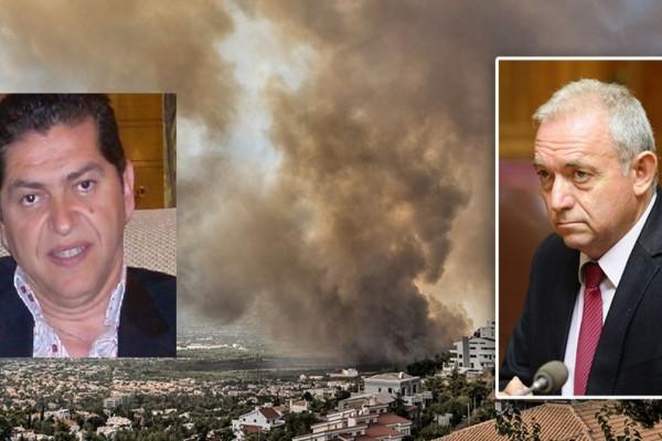 Λέκκας - Γκουρμπάτσης για φωτιά στα Βίλια: Σε κατάσταση ανάγκης η περιοχή για άλλες 2-3 μέρες - Στη θάλασσα θα σβήσει