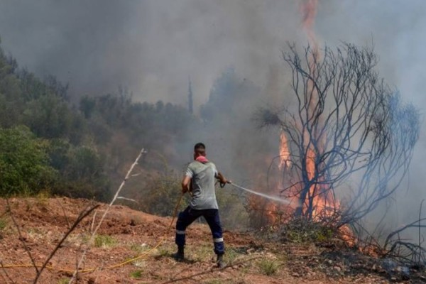 Φωτιά στην Ηλεία: Νέα αναζωπύρωση σε Βίλλια και Δούκα