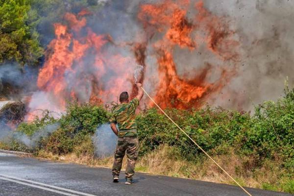 Φωτιά στην Ηλεία: Συνεχείς αναζωπυρώσεις -