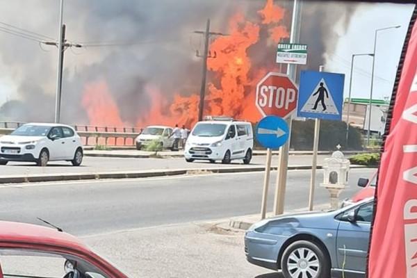 Φωτιά και στο Αγρίνιο! Βρίσκεται κοντά σε αποθήκη με υγραέριο