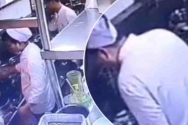 Αηδία: Κρυφή κάμερα καταγράφει μάγειρα γνωστού εστιατορίου να κάτι κάτι το τραγικό!