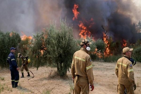 Πυρκαγιά στο Θεολόγο Φθιώτιδας - Εντολή εκκένωσης