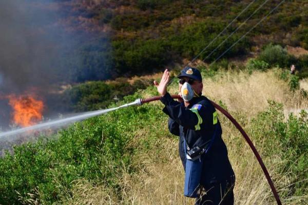 Φωτιά στην Φλώρινα - Συναγερμός στην Πυροσβεστική