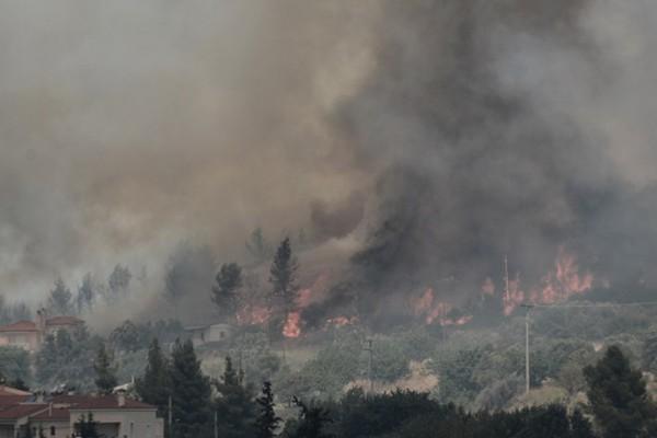 Φωτιά στην Αττική: Νέο πύρινο μέτωπο στην Πάρνηθα ανάμεσα σε Θρακομακεδόνες και Κρυονέρι