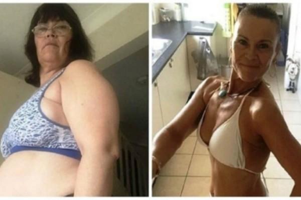 50χρονη γιαγιά έχασε 31,5 κιλά χωρίς να κάνει γυμναστική - Η αλλαγή της θα σας σοκάρει