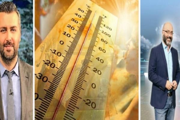 Καιρός: «Καίγεται» στους 40 ξανά η Ελλάδα - Προειδοποίηση Αρναούτογλου και Καλλιάνου για μεγάλη πτώση και βροχές