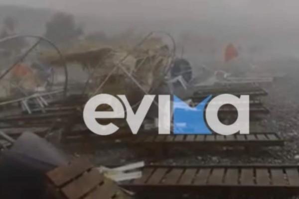 Ισχυρή καταιγίδα στην Βόρεια Εύβοια